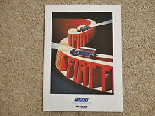 1988 Fiat Autocar & Motor supplement promo brochure Panda Uno Tipo Regata Croma