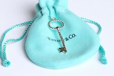 TIFFANY & CO 925 STERLING SILVER TWIST OVAL KEY PENDANT CHARM AUTHENTIC