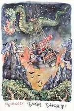 "Original LEGO Art Castle Fright Knights 6037 Witch's Windship 11""x17"" Poster"