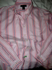 BROOKS BROTHERS NON-IRON EMBROIDERED LOGO SUPIMA COTTON SHIRT-LOGO BUTTONS-L