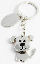 PERSONALISED NODDING DOG KEY RING -  FREE ENGRAVING