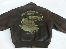 *AVIREX VINTAGE FLIEGER PILOTEN LEDERJACKE*A2*HOLLYWOOD AT WAR*USA*GR: M*RARITÄT