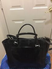 GIANI BERNINI TOTE SHOULDER BAG LEATHER BLACK H:10 L:14 D:5 SD:18 PRICE REDUCED