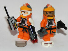 2 lego star wars rebel pilot custom a-wing x-wing résistance trooper accessoires