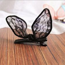 Stereo Lace Rabbit Cat Ears Bow Hairpin Fashion Women Girl Hair Accessories