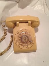 Vintage Old Industrial Biege Rotary Dial Office School ITT Telephone X