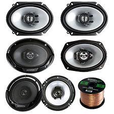 """Kenwood 6""""X9"""" 400W Speakers, 6.5"""" Speakers and 6""""X8"""" Speakers, 50FT Speaker Wire"""