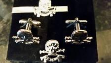 17/21 Lancers silv colr'd Cufflink/ Tie slide/ lapel pin set, QRL, Queens Royal