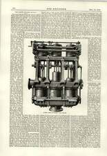 1889 Steam Pumps Hms Sultan Baghino Rays Vessel Lighterage Wharf Thames