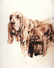 "BLOODHOUND DOG FINE ART LIMITED EDITION PRINT - ""Head Studies"" by Roger Inman"