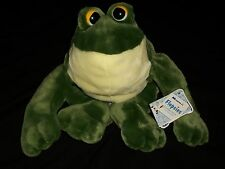 """AH Adorable Adoptables 15"""" Flopsies Plush Frog Jumpin' Jaques Green #06250 Toy"""
