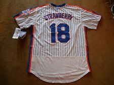#18 Darryl Strawberry N.Y Mets STITCHED P/O Baseball Jersey Men XL TAG NEW SHARP