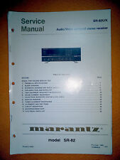 Marantz SR-82U/K  Service Manual (original). Used
