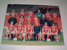 Liverpool FC 1982-83 squad photo hand signed by 14 (very faint signatures)