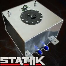 57L/15 GALLON FUEL CELL TANK W CAP GAS POLISHED RACING LEVEL SENDER UNIT A1