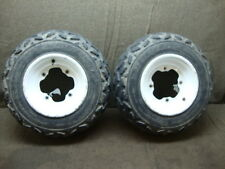 91 YAMAHA ATV YFM 350 X YFM350X WARRIOR FRONT WHEEL RIMS AND TIRES #CC27