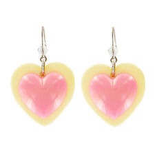 "NEW Tarina Tarantino Pink ""PASTEL HEART BON BON"" Heart Earrings -SALE"