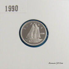 1990 Canada 10 Cent Proof Ultra Heavy Cameo Nickel  Coin From Set