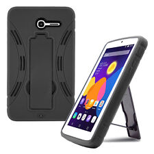 Black Shockproof Hybrid Case Cover For alcatel one touch pop 7 lte tablet 9015W