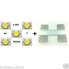 5 Pcs 10W Led Cool White With Mini Heat Sink 900-1100lm Light Dc 9~12 Volt