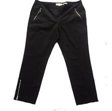 MICHAEL KORS NWOT Womens Black Zipper-Cuff Skinny Dress Pant Size 16