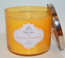 NEW BATH & BODY WORKS SUMMER BOARDWALK SCENTED CANDLE 3 WICK 14.5OZ LARGE YELLOW
