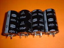 4x Elko 100µF / 450V 105°C 22x40mm snap-in 100uF