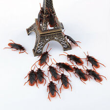 10pc Realistic Simulation Cockroach Plastic Rubber Roach Bug Trick Halloween