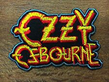 """NEW"" OZZY OSBOURNE Logo Iron On Metal Sabbath Embroidered Patch"