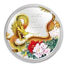 Cook Islands Year of the Dragon Best of Luck 1 Oz Silver Coin 2012