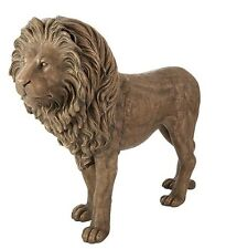 "74"" L x 56 tall Life Size Sculpted Lion Statue Bronze Finish Resin Spectacular"