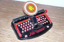 Vintage Junior Dial Toy Typewriter Mar Toys Old Pressed Metal Kid's Child's Play