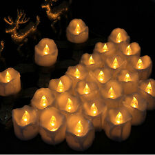 12x Flameless Flicker LED Candle Tea Light with Battery for Halloween Decoration