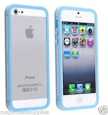 Blue / Transparent Bumper Case - iPhone 5 5G -  Rigid Hard Plastic . BRAND NEW