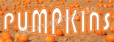3'x8' PUMPKINS BANNER Outdoor Sign LARGE Fall Harvest Farm Stand Patch Halloween