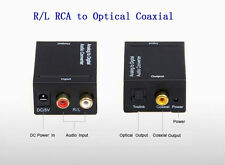 Analog to Digital Toslink Optical Coaxial RCA L/R Signal Audio Converter Adapter
