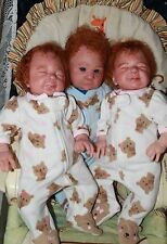 Sweet Pea Babies Reborn Triplets, Trinny, Tristin & Tallulah, by Jessica Schenk
