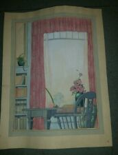 FLORENCE ABBEY PARSELL ORIGINAL ART PAINTING WATERCOLOR ANGOLA, INDIANA 1907