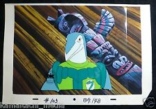 Dinosaucers Ichy Icky Animation Production Cel & Painted Background 1987 DIC COA