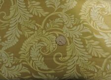100% Cotton Fabric - Benartex - Yellow Green Background and Leaves - By The Yard