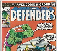 The DEFENDERS #41 with The HULK and Doctor Strange from Nov 1976 in Fine+ con.