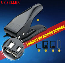 Micro/Standard to Nano SIM Card Cutter For Apple iPhone 4 5 6 Samsung + Adapters