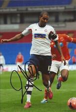 BOLTON * ZAT KNIGHT SIGNED 6X4 ACTION PHOTO+COA