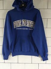 USA TRASHED VINTAGE RETRO BLUE PRO/COLLEGE SWEATSHIRT SWEATER HOODIE SIZE SMALL