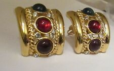 Vintage Givenchy Rhinestone Glass Gripiox Earring Haute Couture Runway
