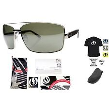 NEW Electric OHM Mens Aviator Platinum Silver Chrome Mirror Sunglasses Msrp$110