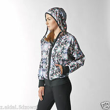 Adidas Training Clima Allover Print W Jacket Size UK 8 New ID M63980 (153)