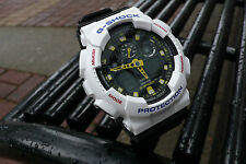 Casio G-SHOCK GA100CS-7A Glossy Black accents in White, Yellow & Red