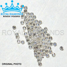 100% Natural Loose Round Single Cut Real 100 Diamonds FL-VS, D-F VG, 0.90MM
