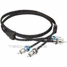 SCOSCHE HEXAD20 20 FT 2 CHANNEL TWISTED RCA INTER CONNECT CAR AUDIO AMP CABLE